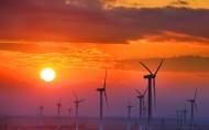 夕阳下的风车图片(5张)