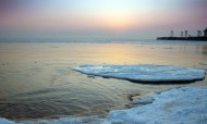 渤海湾日出风景图片(9张)