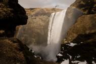 瀑布下的彩虹图片(10张)