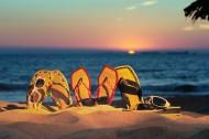 黄昏的大海夕阳风景图片(9张)