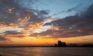 傍晚时分天空的图片(9张)