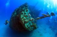海底沉船景色图片(6张)