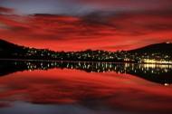 红色的朝霞风景图片(17张)