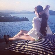 海边度假的美女微信头像图片大全