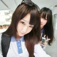 学院风清纯姐妹花微信自拍头像图片